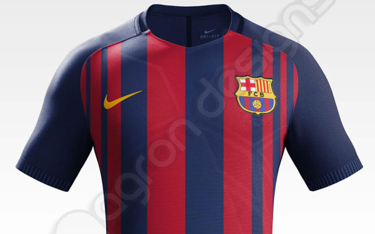 ser esta la equipaci n del fc barcelona 2017 2018. Black Bedroom Furniture Sets. Home Design Ideas