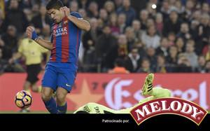 Suárez marcó el gol del Barça