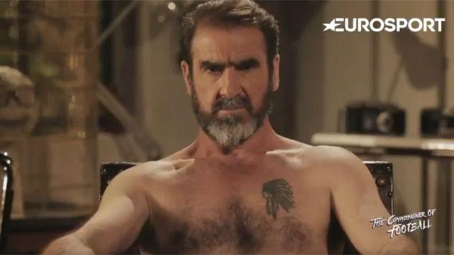 Cantona protagonizó un polémico vídeo cómico sobre la remontada