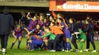 El Barça celebró el hito histórico de alcanzar las semifinales de Champions