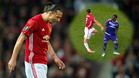 Ibrahimovic sufrió una aparatosa torcedura de rodilla