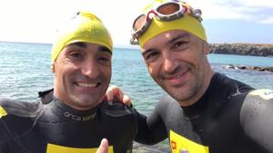 Miguel Luque y Sergi Mingote han inscrito sus nombres en la travesía del Estrecho de Gibraltar a nado