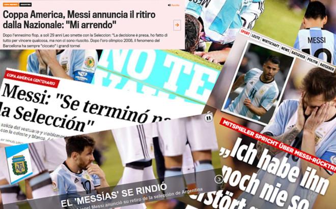 Leo Messi, protagonista este lunes en la prensa