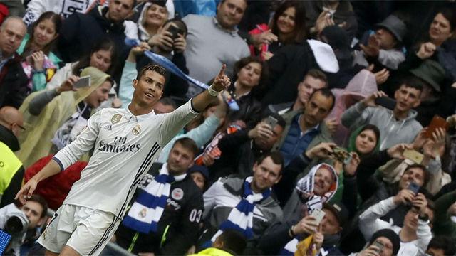 Cristiano Ronaldo marca y pide el apoyo del Bernabéu