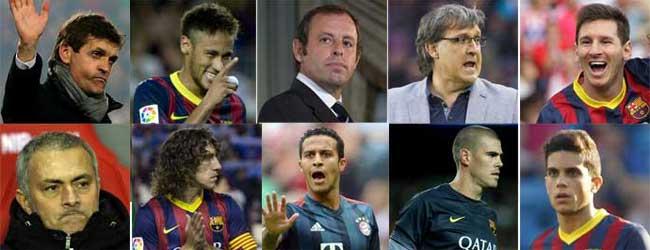 Los 10 nombres propios del Barça en el 2013