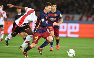 Messi se enfrentó a River Plate en el Mundial de Clubes