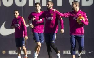 El Barça preparó el derbi de Copa