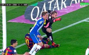El pisotón de Pau López sobre Messi quedó impune