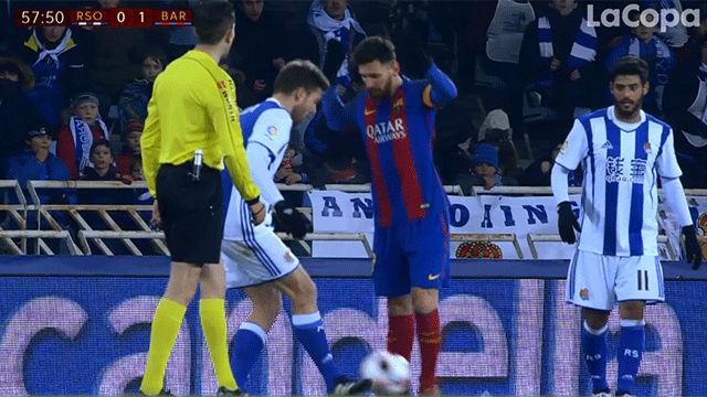 Video resumen: La jugada polémica de Messi en el Real Siociedad - FC Barcelona (0-1). Copa del Rey