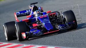 El piloto de Toro Rosso, Carlos Sainz, ha tenido problemas en el Circuito Catalunya-Barcelona