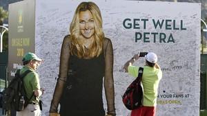Los aficionados mandaron mensajes de apoyo desde Indian Wells