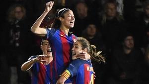 Alexia celebra el gol que le pone pie y medio a semifinales