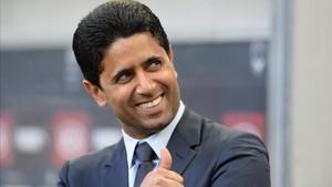 Nasser al Khelaifi, presidente del PSG, deberá negociar con Bartomeu