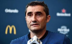 Valverde cuenta sus partidos por victorias en el FC Barcelona