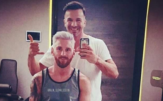 Ariel Berm�dez, el art�tice del cambio de look de Messi