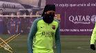 El Barça prepara bajo la lluvia el partido ante el Eibar