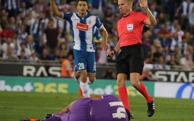 Casemiro cay� lesionado ante el Espanyol
