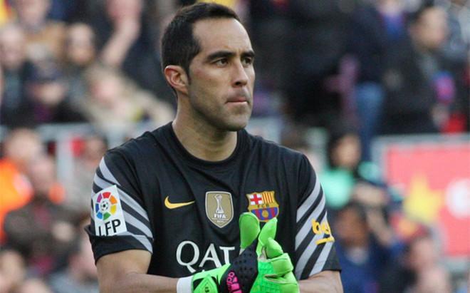 Claudio Bravo, guardameta del FC Barcelona