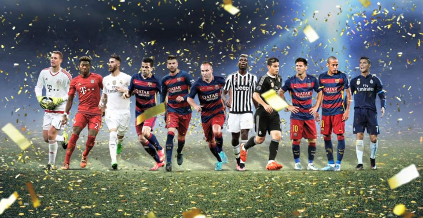 Cinco jugadores del FC Barcelona, en el once del a�o de la UEFA