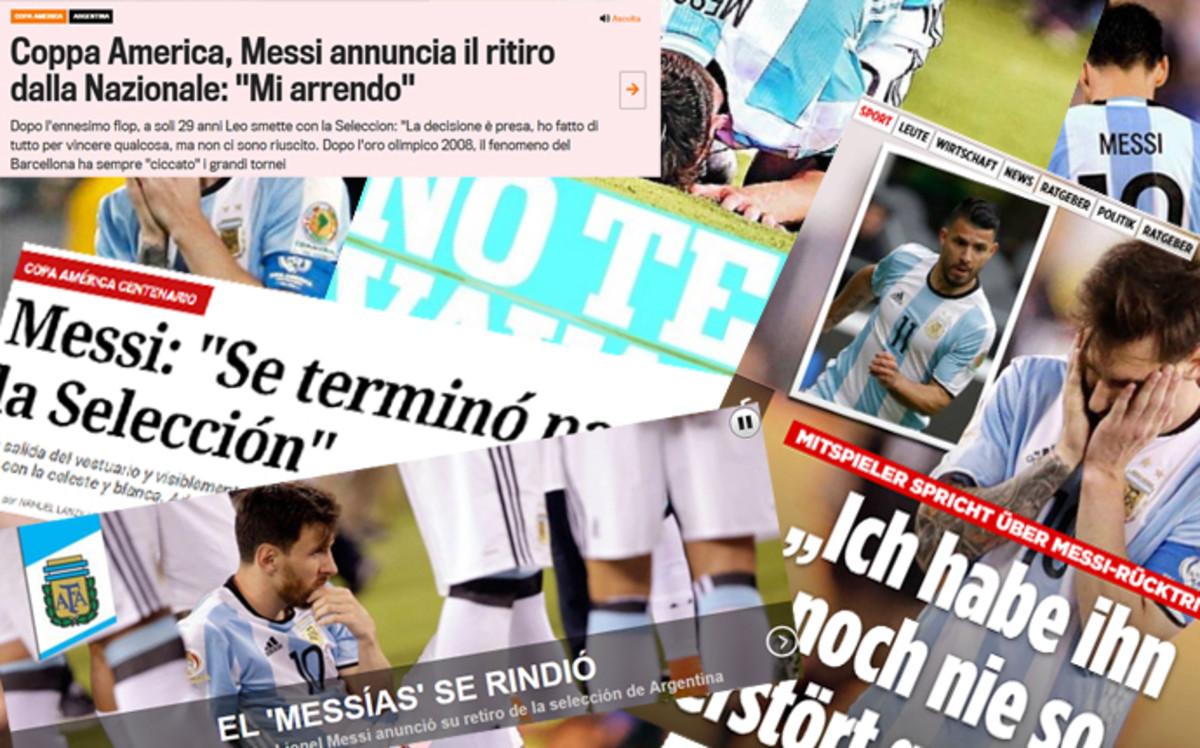 El adiós de Messi, un gran impacto en la prensa mundial