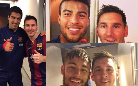 Los azulgranas felicitaron a Messi en las redes
