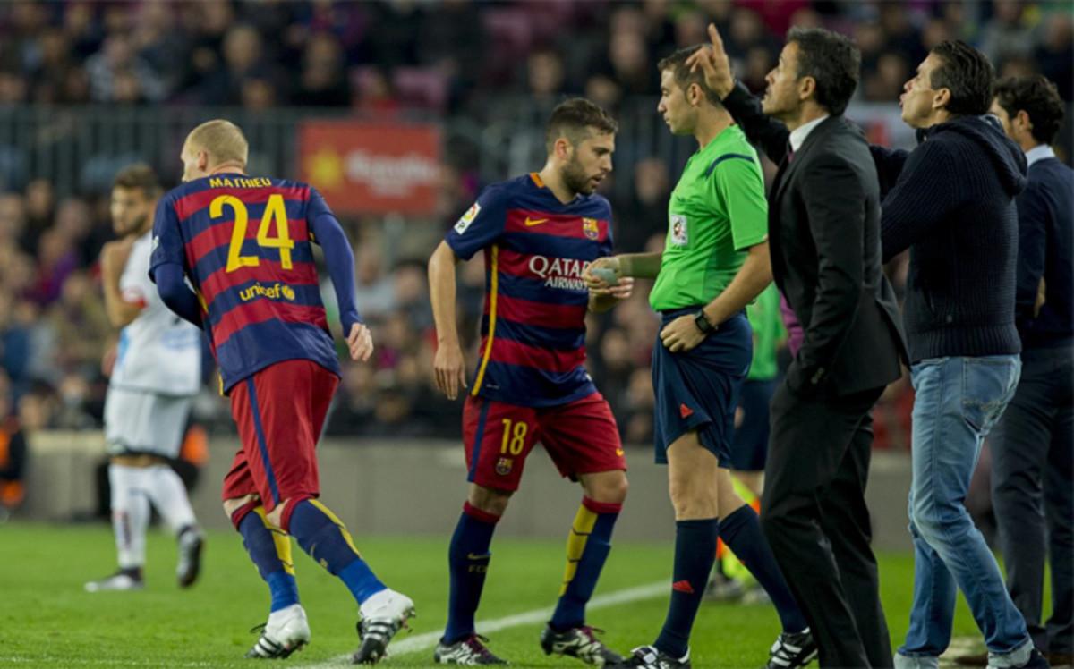 Al Bar�a y a Mathieu no le igualaban dos goles desde diciembre