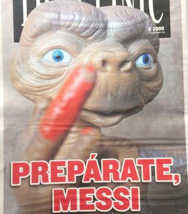 En Chile 'advierten' a Messi antes de la final