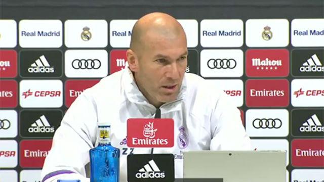 La rueda de prensa de Zidane previa al Celta - Madrid de Copa