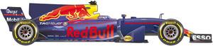 El coche de Red Bull para el Mundial de la F1 2017