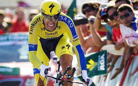 Contador fue el mejor entre los favoritos en la contrarreloj