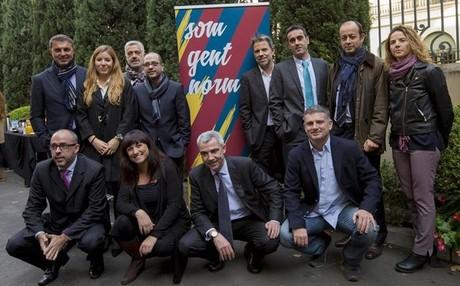 Jordi Farr� y su equipo se presentaron este mediod�a en el Col�legi d'Enginyers de Barcelona