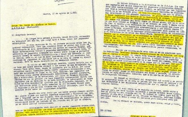 Los documentos publicados por La Vanguardia en 2013 que prueban la intervenci�n franquista en la llegada de Di Stefano al Madrid
