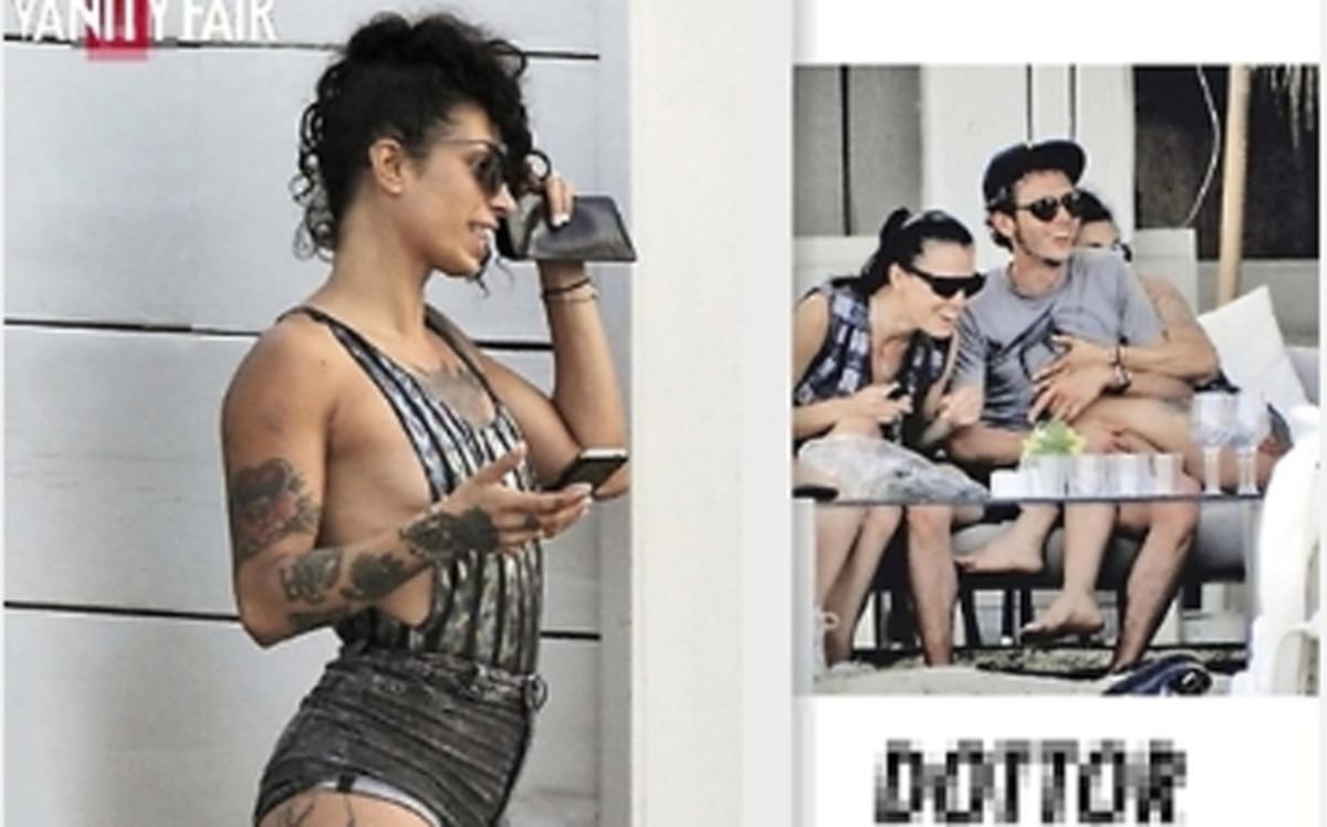 Rossi con su acompañante en Ibiza. Vanity Fair