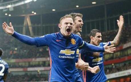 Rooney, en la celebraci�n de su gol