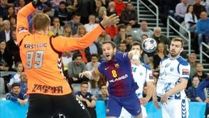 Víctor Tomás inauguró el marcador en el Arena de Zagreb