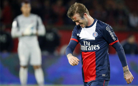 Beckham se retir entre lgrimas