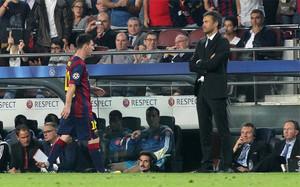 La relación entre Messi y Luis Enrique no pasa por su mejor momento