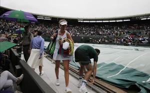 La Pista 1 de Wimbledon ya contaba con una pequeña cubierta, insuficiente