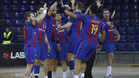 El Barça de balonmano es ya campeón de la Liga ASOBAL
