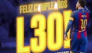 El Barça ha felicitado a Messi por sus 30 años