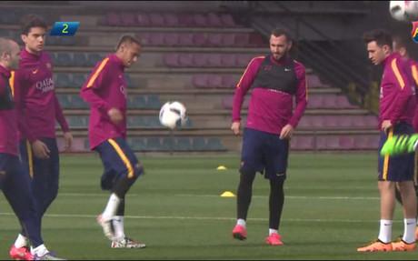 Neymar y Munir se retaron a toques