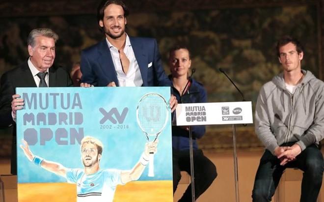 Santana, Feliciano, Kvitova y Murray, en la presentaci�n oficial del torneo