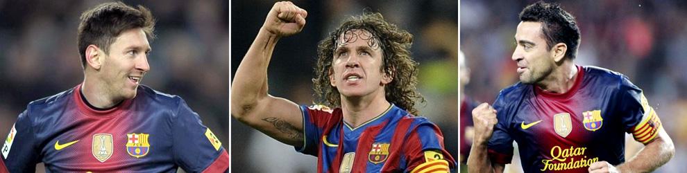 Messi, Xavi y Puyol, renovados