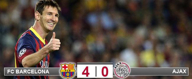 Messi y Valdés limpian al Ajax