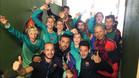 El Alevín A al completo celebra el título de campeón en Oropesa