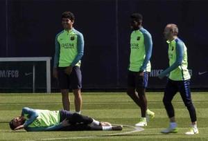 El Barça entrena en la Ciudad Deportiva