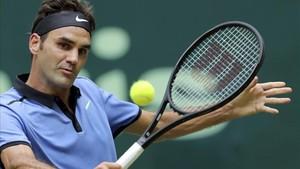 Federer sigue muy cómodo en el torneo de Halle