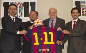 El Barça y Unicef llevan diez años unidos