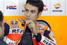 Dani Pedrosa, en el box de Honda
