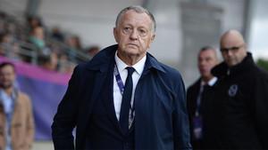 Jean Michel Aulas, presidente del Olympique Lyon